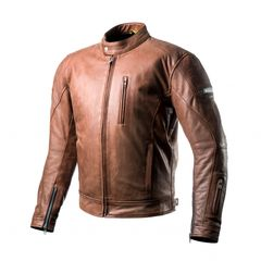 JACKET LEATHER SHIMA HUNTER BROWN