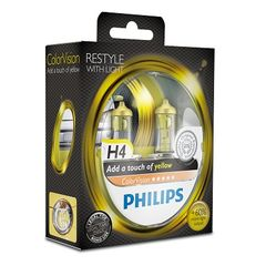 SET H4 ColorVision Yellow ΚΑΙΝ. PHILIPS 36789828 MITSUBISHI ...