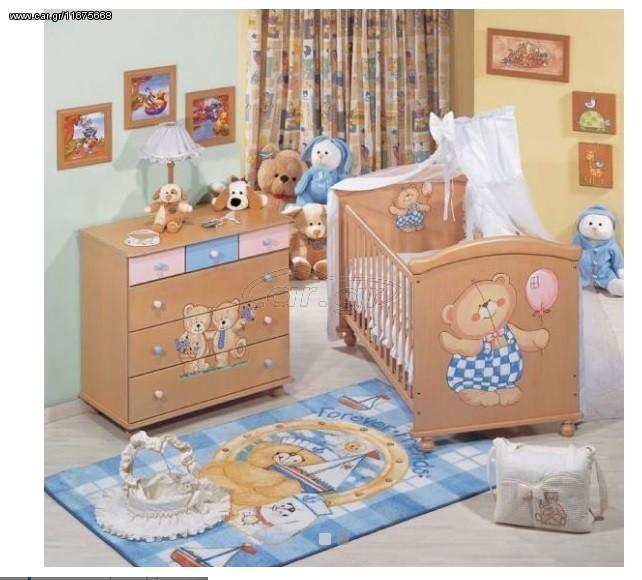 e0f0c5b6ebc Αστερίας Bebe Διόνυσος κούνια μετατρεπόμενη σε παιδικό κρεβάτι με  δυνατότητα επιλογής χρωμάτων - € 486 EUR - Car.gr
