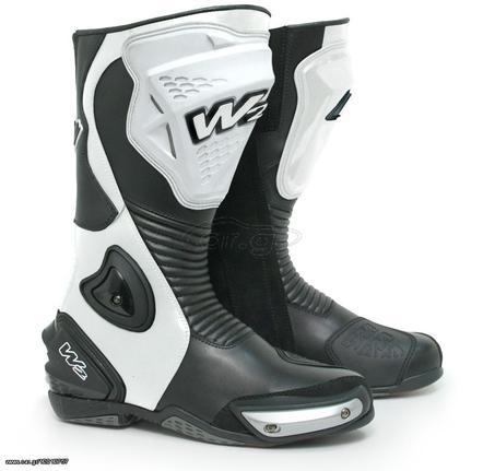 a715be2dd7 Μπότες Μοτοσυκλέτας W2 Boots ADRIA-SR Άσπρο - Μαύρο ΠΡΟΣΦΟΡΑ Παλιά Σχεδίαση