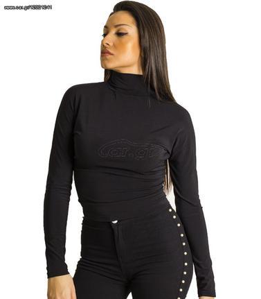 7c5d7ee156ca Μαύρη μπλούζα ζιβάγκο με ανοιχτή πλάτη - € 22 EUR - Car.gr