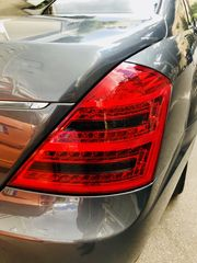 MERCEDES S CLASS W221 LED ΠΙΣΩ ΦΑΝΑΡΙΑ  ΚΟΚΚΙΝΑ-MAYPA  / RED - BLACK