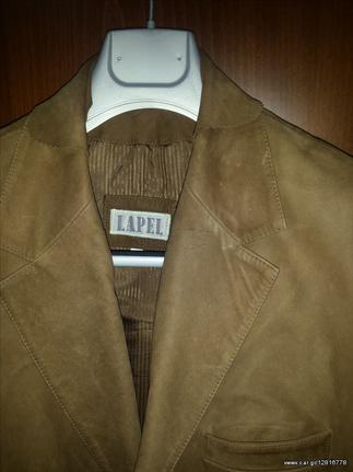 LAPEL ανδρικό καστόρινο σακάκι ταμπά + αντικαταβ 65 ffff8a1444c