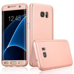 Samsung Galaxy S7 Edge - [Full Body 360 Coverage Protective] Tpu Front & Back Full Gold Rose (oem)