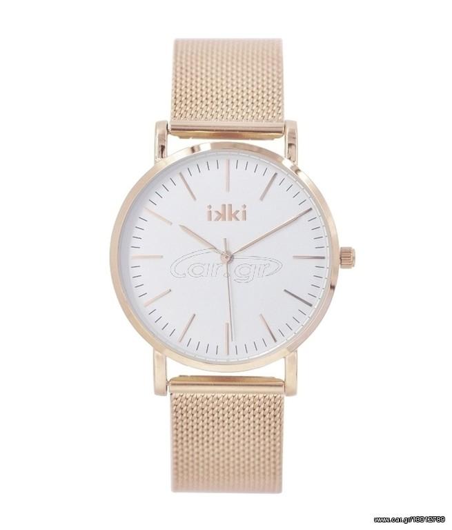 IKKI Ρολόι Γυναικείο Ροζ Χρυσό Ατσάλι JANET JT02 - € 59 EUR - Car.gr 40a21263708