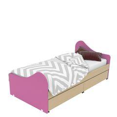 583c2eb817f Κρεβάτι Παιδικό Surf Oak Natural-Pink 207X100 cm Μονό