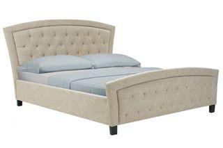 59b7a72d95a Κρεβάτι διπλό MARIANO με υφασμάτινη επένδυση σε μπεζ χρώμα 160x200εκ.  125-000015