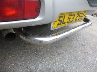 SUZUKI GRAND VITARA '99-'05 BULL BAR INOX ΠΙΣΩ (ΣΚΑΛΟΠΑΤΙ)