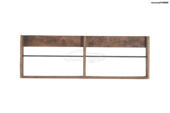 bd7f41b8de1 Ραφιέρα Venus (90x8x30) royal 0320339 παλαιωμένο ξύλο teak και σίδερο Παλιά  Σχεδίαση