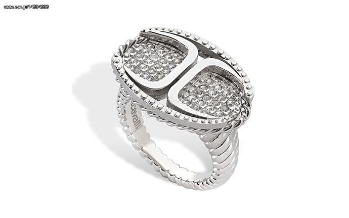 Γυναικείο Κόσμημα Δαχτυλίδι από ανοξείδωτο ατσάλι με Κρύσταλλα της σειράς  Just Street dfc42ca8b67