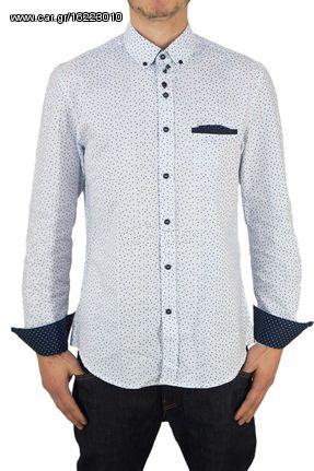 f79c826f8439 Missone ανδρικό πουκάμισο snowflakes print - 929-wh - € 25 EUR - Car.gr