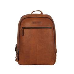 da4913aa11 Hill Burry δερμάτινο backpack καφέ με φερμουάρ - vb100206-4066-br