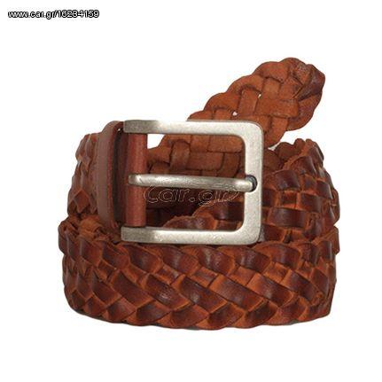ad274af109 Hill Burry ανδρική δερμάτινη πλεκτή ζώνη καφέ - 40mm-knit-tan Παλιά Σχεδίαση