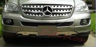 MERCEDES BENZ ML W164 FRONT & REAR BUMPER PROTECTION COVER /...