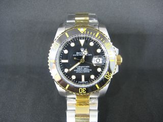 e877d5368e Rolex Submariner Two-Tone Black Dial Αντίγραφο κορυφαίας ποιότητας!