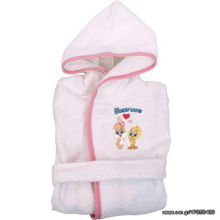 ce997127164 Μπουρνούζι Παιδικό Baby Looney Tunes 22 White-Pink Viopros 4-6 ετών Παλιά  Σχεδίαση