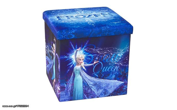 24ec7d3ac30 Παιδικό Σκαμπό Πτυσσόμενο με Αποθηκευτικό Χώρο με θέμα Snow Queen απο την ταινία  Frozen της DISNEY 38x38x38cm, Homa 109044 - Homa Παλιά Σχεδίαση