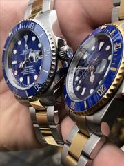 Rolex Submariner silver gold Automatic