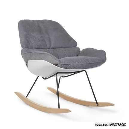 5b6558689f1 ChildWood Κουνιστή Πολυθρόνα Θηλασμού Rockin Lounge White & Grey Παλιά  Σχεδίαση