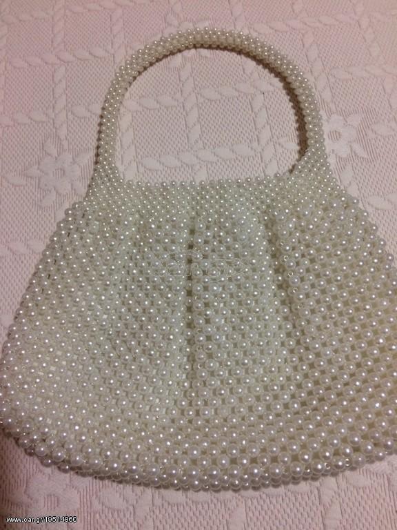 636db56622 Τσαντάκι γυναικείο άσπρο με πέρλες - € 10 EUR - Car.gr