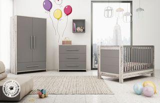 10a296a12f1 Μετατρεπόμενη Βρεφική Κούνια & Συρταριέρα Casa baby Vienna Anthracite