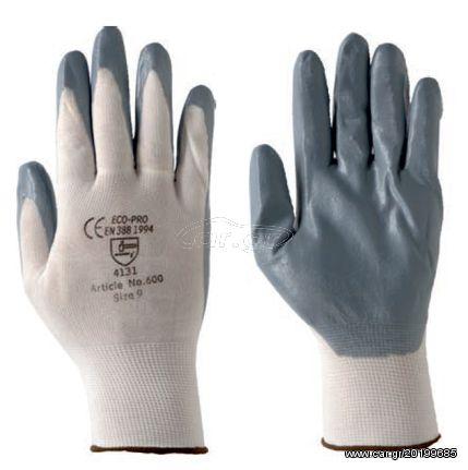 591867ac99 Ecopro No600-8 Polyester Επαγγελματικά Γάντια Προστασίας Επικάλυψης  Νιτριλίου (Νούμερο 8) Παλιά Σχεδίαση