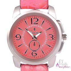 1a8745ada0 Γυναικείο ρολόι χειρός με κοραλορόζ ανάγλυφο λουρί και ροζ κοραλί καντράν  by Amaryllida s Art collection -