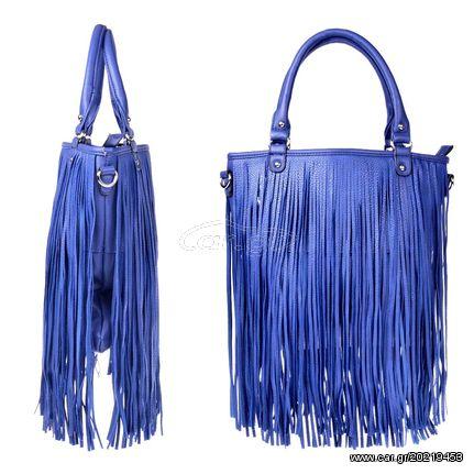 9ae4599fa34 Γυναικεία τσάντα ώμου με κρόσια - Μπλε - OEM 30979 - € 25 EUR - Car.gr