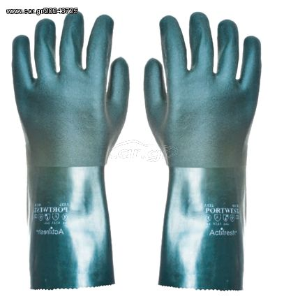 0991944d87 Ecopro No6051 Σετ 12 Τεμάχια PVC Γάντια Πετρελαιοειδών-Λιπαντικών 35cm (One  Size) Παλιά Σχεδίαση