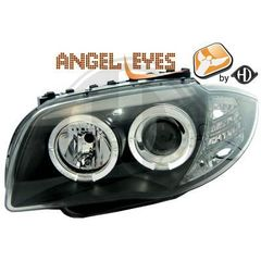 bmw angel eyes bmw Headlight Set 04-11 μαυρα 1-Reihe (E81/82...