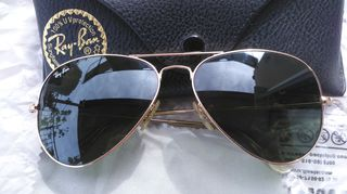 Γνήσια Ray Ban Aviator RB3025 (Aviator RB3025 L0205 58) Unisex G-15 ( 78af8a4655f