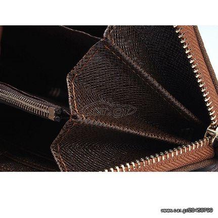 Ανδρικό Πορτοφόλι Τύπου Τσαντάκι Clutch Καφέ Με Γκρι Baellerry - 3684 Παλιά  Σχεδίαση. Previous a8665c230d3