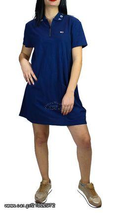 d85209821442 Γυναικείο Φόρεμα Tommy Jeans Colar Detail Polo Dress Navy - € 82 EUR ...