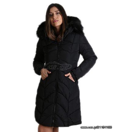 31d083c2884 Παρκά μαύρο γυναικείο μεσάτο με γούνα στην κουκούλα - € 34 EUR - Car.gr