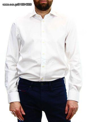 76568f60c38d Ανδρικό Πουκάμισο Tommy Hilfiger Flex Collar Classic Shirt White Παλιά  Σχεδίαση