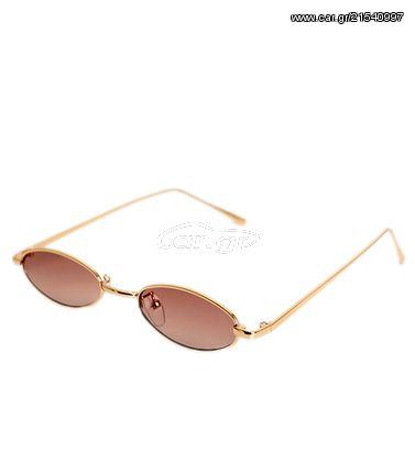 51a8ae13229 Γατίσια γυαλιά ηλίου με καφέ φακό και χρυσό σκελετό - € 22 - Car.gr
