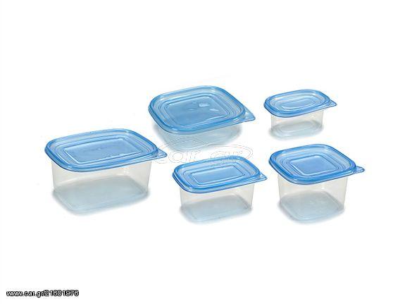 0dbd87208a7 Σετ Τάπερ 15 τεμαχίων Δοχεία φαγητού Φαγητοδοχεία σε 5 μεγέθη με Μπλε  καπάκι - Cb - € ...