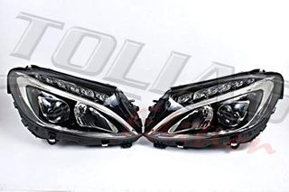 MERCEDES BENZ C CLASS W205 LED HEADLIGHTS 2015 + BLACK  / ΕΜ...