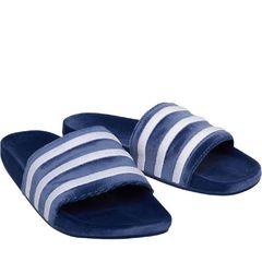 c9b6aec9c1 Adidas Originals Mens Adilette Slide Sandals Mystery Blue Footwear White  Footwear White BY9908