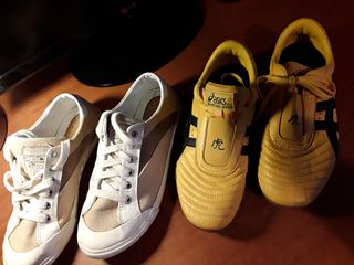 c4916625e62 2 ζευγη Νο.37 παπουτσια δερματινα ASICS & GEOX Υφασμάτινα 40,00 €