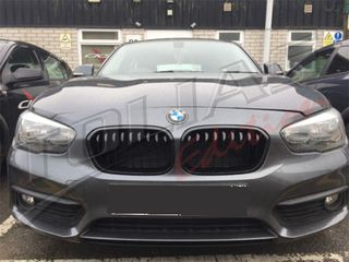 BMW SERIES 1 F20-F21 SPORT GRILLE BLACK GLOSS LCI 15 & WITH ...