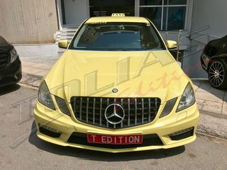 MERCEDES BENZ E CLASS W212 09-13 SPORT GRILLE CHROME-BLACK G...