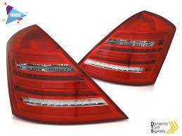 MERCEDES W221 S-KLASA 05-09 RED WHITE LED SEQ W222 LOOK eautoshop gr