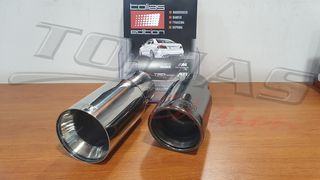 BMW M look MIRROR SINGLE EXHAUST TIPS / ΜΠΟΥΚΕΣ - ΕΞΑΤΜΙΣΕΙΣ