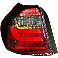 BMW SERIES 1 E81/E87 08-11 ΦΑΝΑΡΙΑ ΠΙΣΩ BLACK-RED(ΜΑΥΡΑ-ΚΟΚΚΚΙΝΑ)