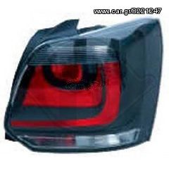 VW POLO 6R LED ΦΑΝΑΡΙΑ ΠΙΣΩ BLACK-RED(ΜΑΥΡΑ-KOKKINA)