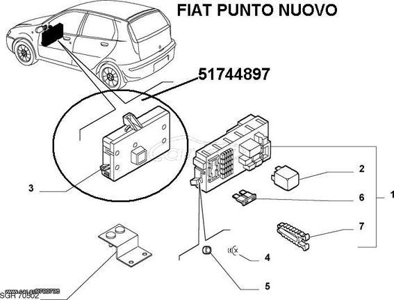 Fiat Punto Nuovo Body Computer 51744897