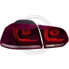 VW GOLF 6 (VI) ΦΑΝΑΡΙΑ ΠΙΣΩ LED KOKKINA/RED LOOK R20