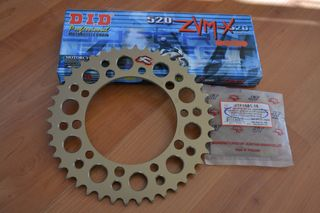 CONVERSION 520 YAMAHA R6 2008(RENTHAL SPROCKETS-DID ZVMX CHAIN G&G)